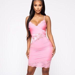 Fashion Nova Pink lace dress